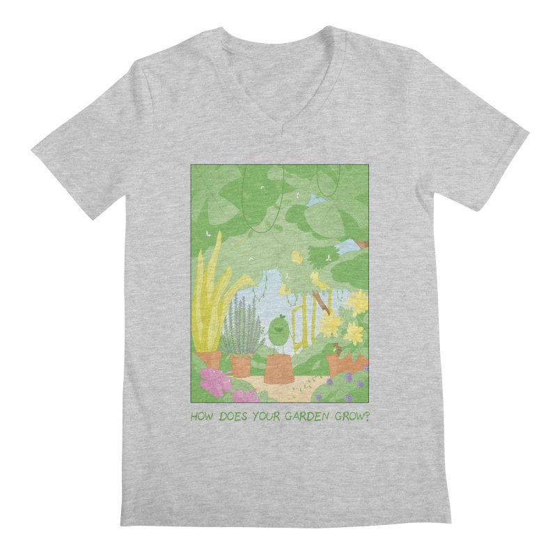 Companions - How Does Your Garden Grow? Men's Regular V-Neck by Rachel Yelding | enchantedviolin