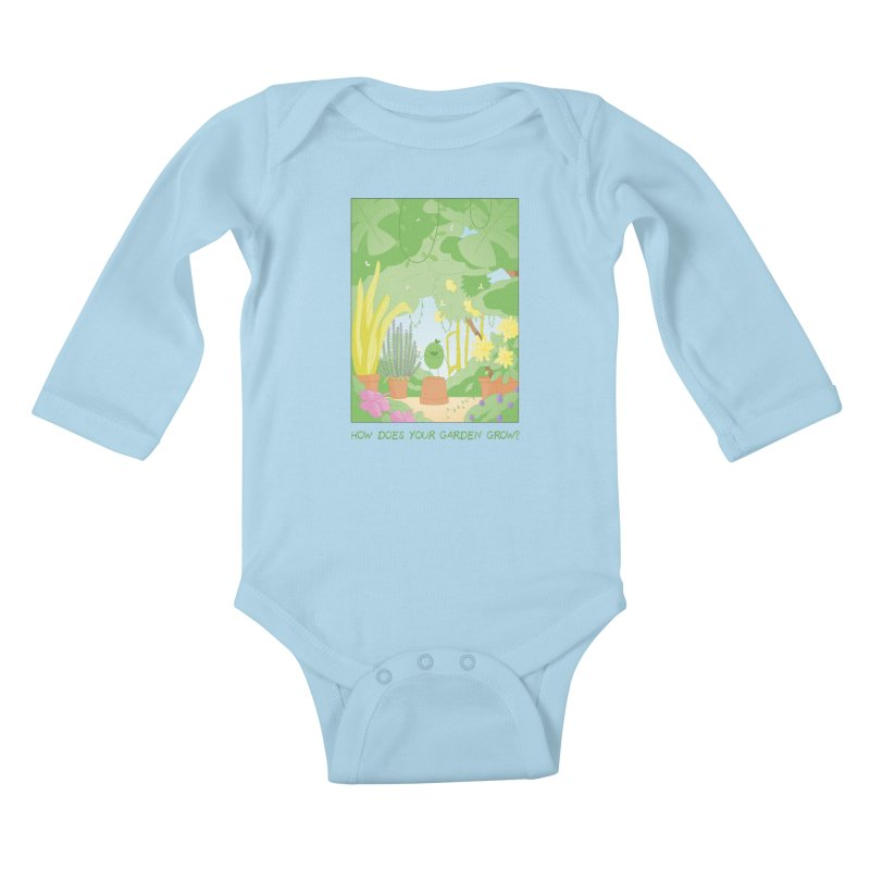 Companions - How Does Your Garden Grow? Kids Baby Longsleeve Bodysuit by Rachel Yelding | enchantedviolin