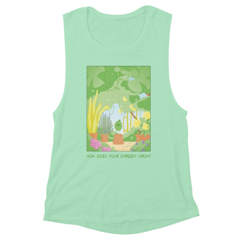 Companions - How Does Your Garden Grow? Women's Muscle Tank by Rachel Yelding | enchantedviolin