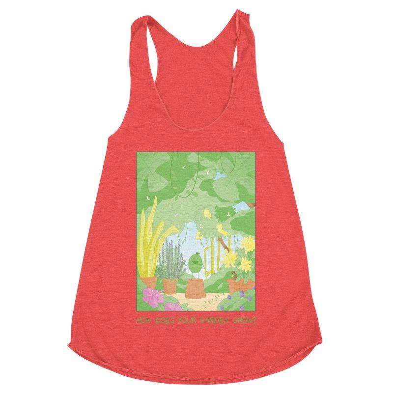 Companions - How Does Your Garden Grow? Women's Racerback Triblend Tank by Rachel Yelding | enchantedviolin