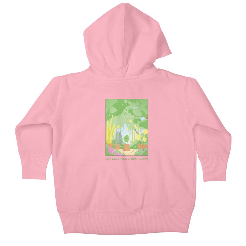 Companions - How Does Your Garden Grow? Kids Baby Zip-Up Hoody by Rachel Yelding | enchantedviolin