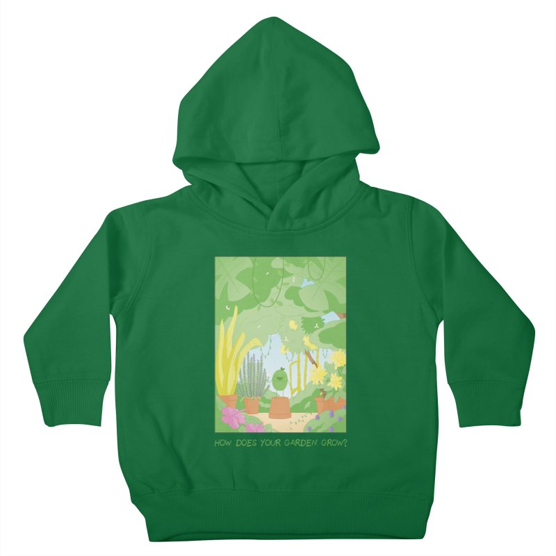 Companions - How Does Your Garden Grow? Kids Toddler Pullover Hoody by Rachel Yelding | enchantedviolin