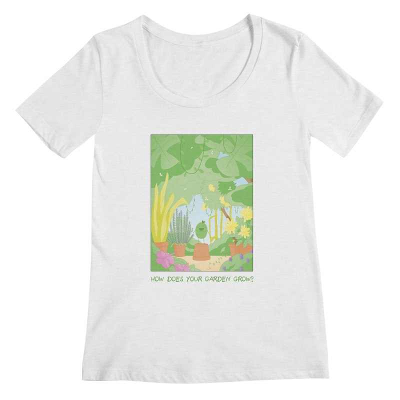 Companions - How Does Your Garden Grow? Women's Regular Scoop Neck by Rachel Yelding | enchantedviolin