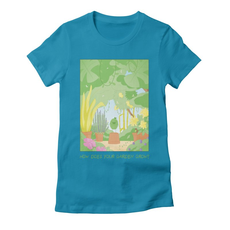 Companions - How Does Your Garden Grow? Women's Fitted T-Shirt by Rachel Yelding | enchantedviolin