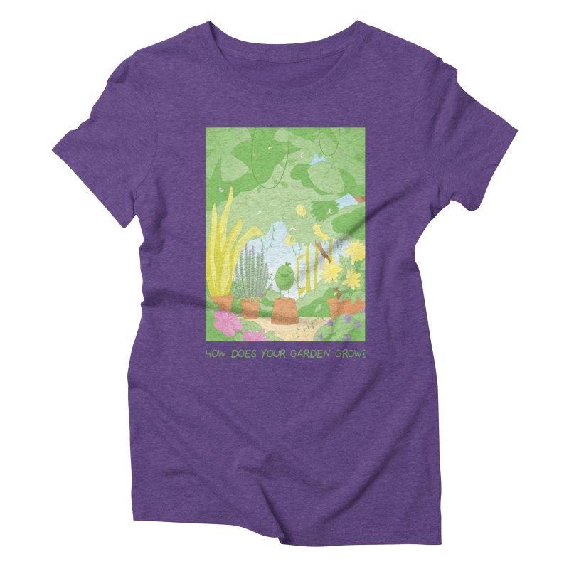 Companions - How Does Your Garden Grow? Women's Triblend T-Shirt by Rachel Yelding | enchantedviolin
