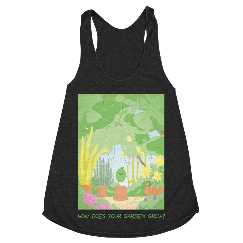 Companions - How Does Your Garden Grow? Women's Racerback Triblend Tank by Rachel Yelding | enchantedviolin