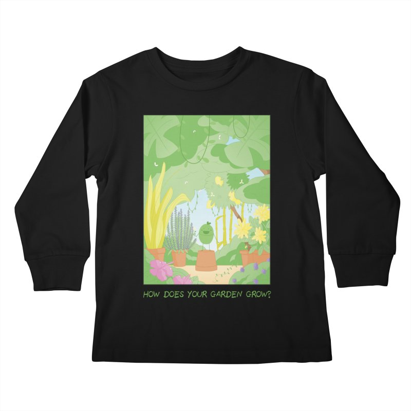 Companions - How Does Your Garden Grow? Kids Longsleeve T-Shirt by Rachel Yelding | enchantedviolin