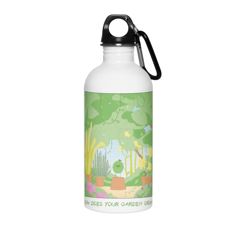 Companions - How Does Your Garden Grow? Accessories Water Bottle by Rachel Yelding | enchantedviolin