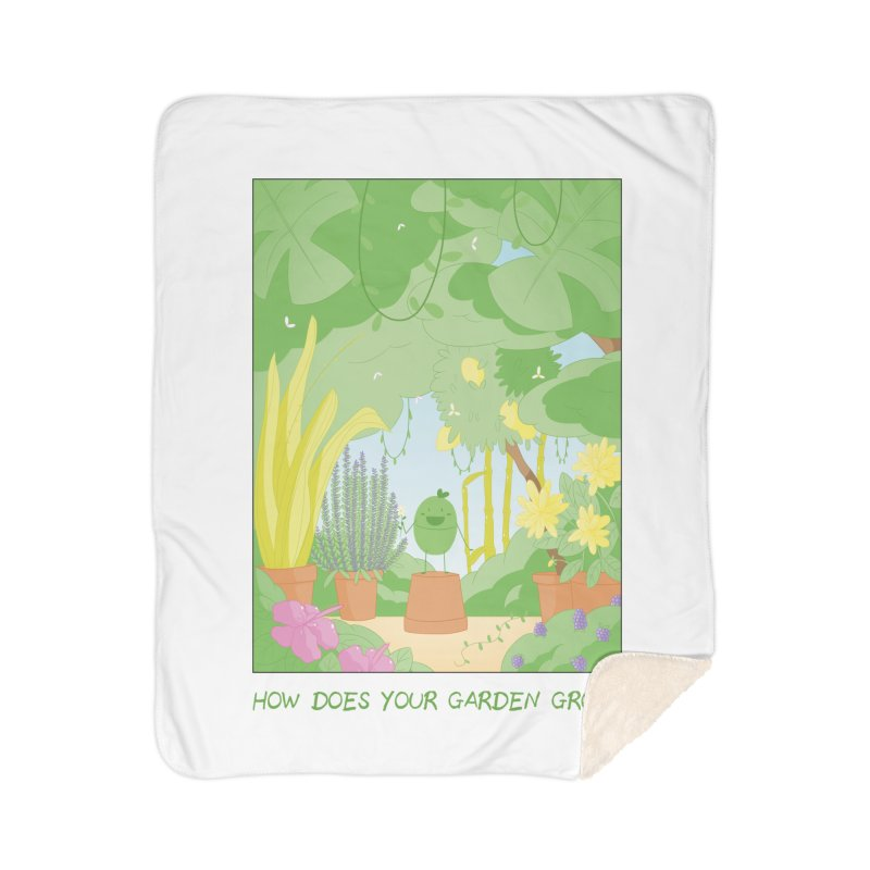 Companions - How Does Your Garden Grow? Home Sherpa Blanket Blanket by Rachel Yelding | enchantedviolin