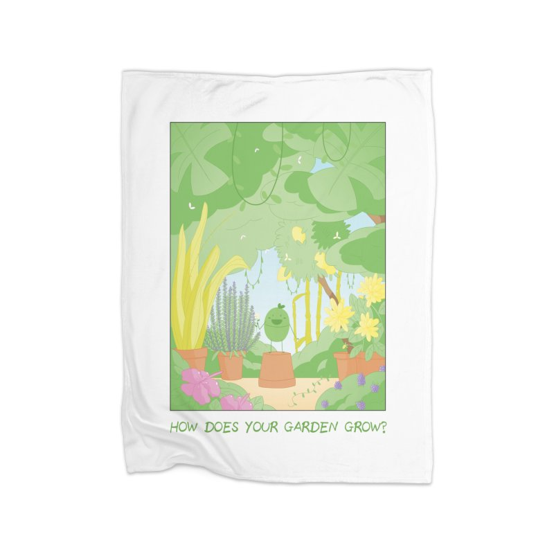Companions - How Does Your Garden Grow? Home Fleece Blanket Blanket by Rachel Yelding | enchantedviolin