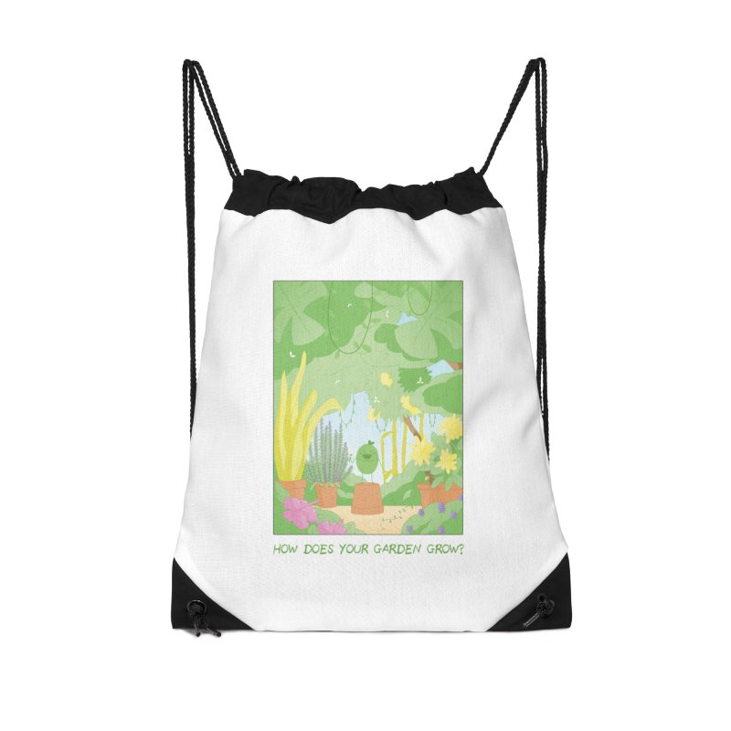 Companions - How Does Your Garden Grow? Accessories Drawstring Bag Bag by Rachel Yelding | enchantedviolin