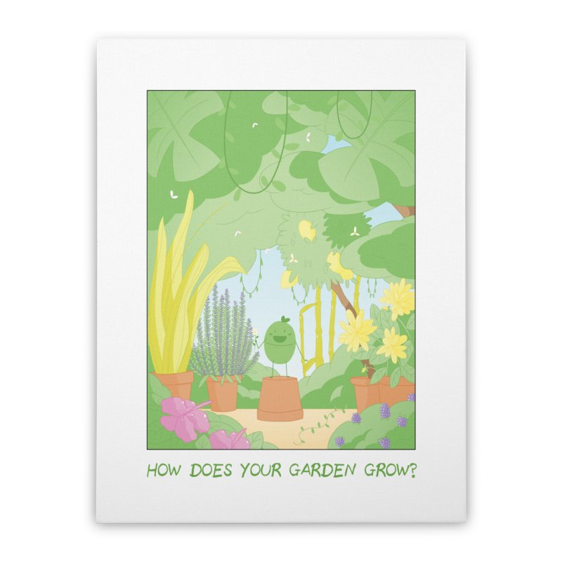 Companions - How Does Your Garden Grow? Home Stretched Canvas by Rachel Yelding | enchantedviolin