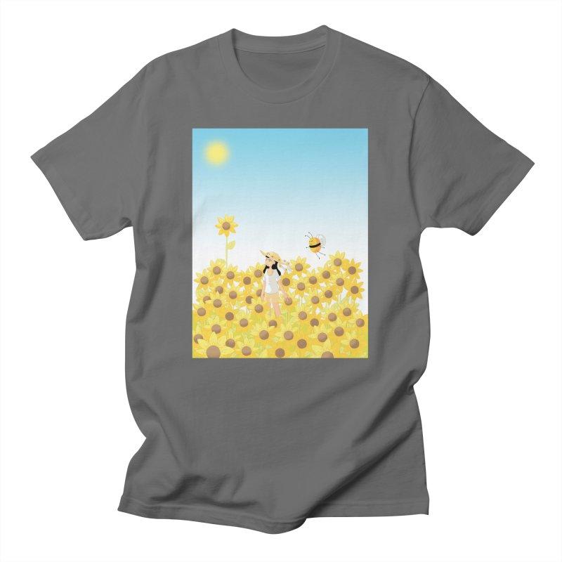 Companions - Sunflower Field Men's T-Shirt by Rachel Yelding   enchantedviolin