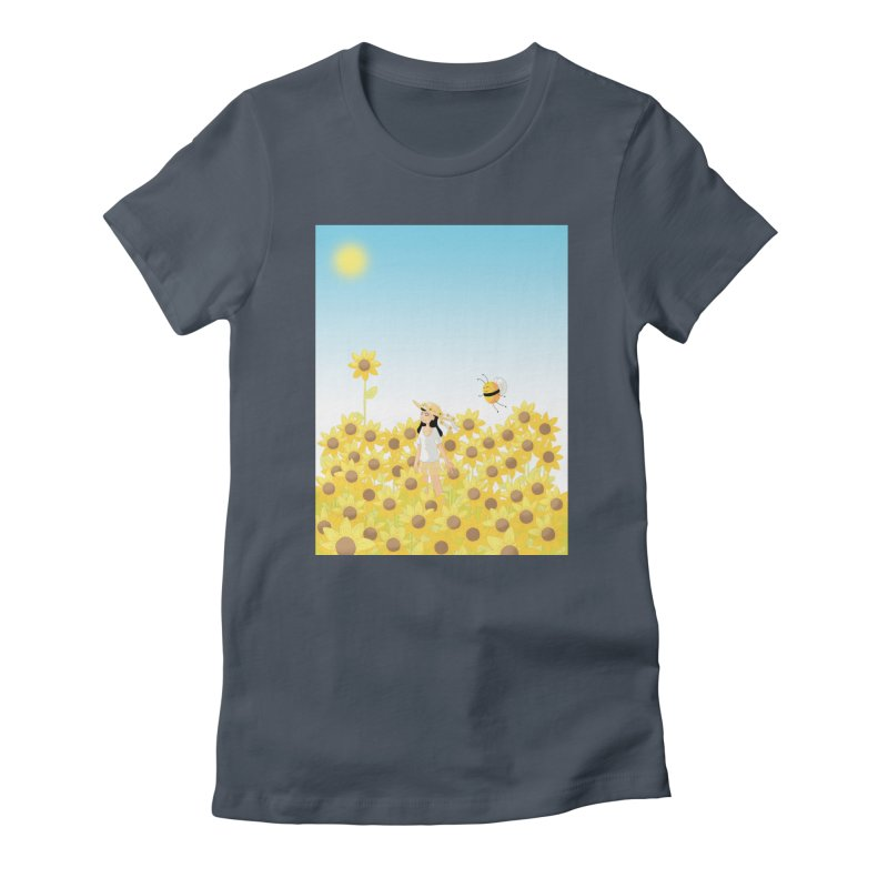 Companions - Sunflower Field Women's T-Shirt by Rachel Yelding   enchantedviolin