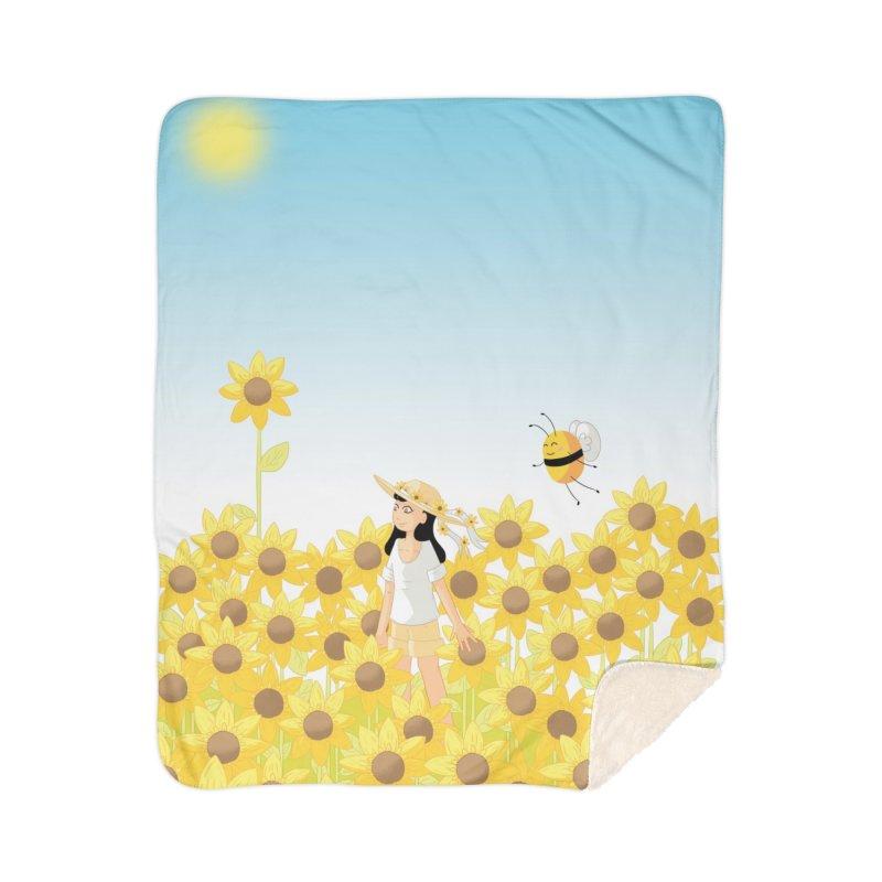 Companions - Sunflower Field Home Blanket by Rachel Yelding   enchantedviolin