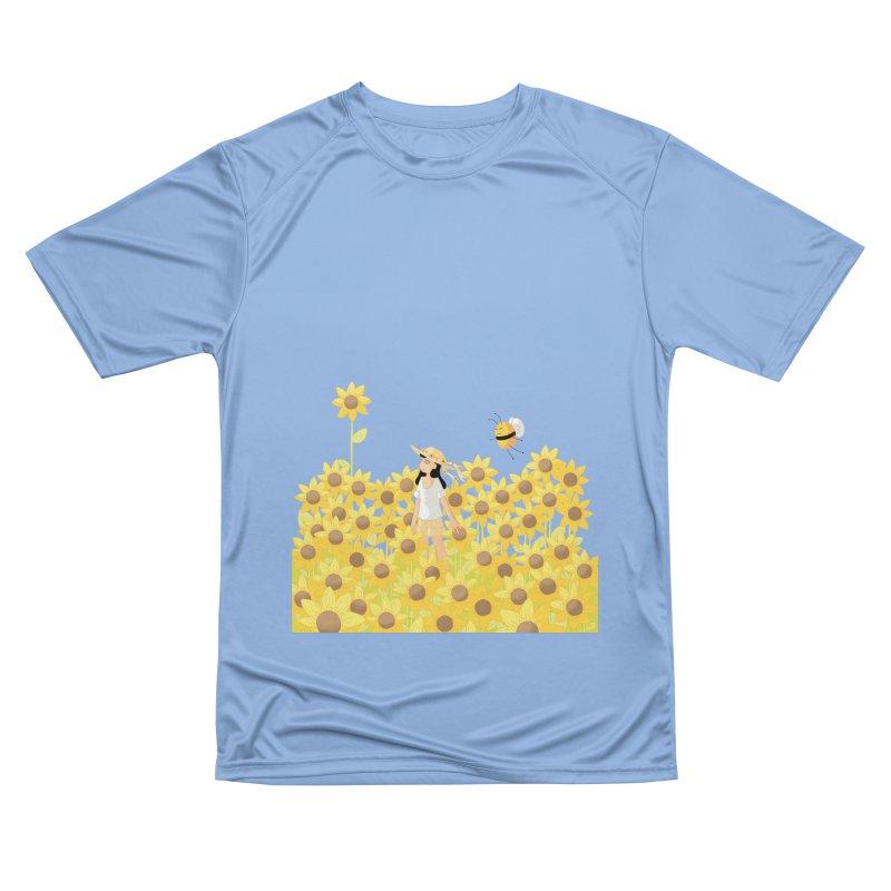 Companions - Sunflower Field (transparent) Women's T-Shirt by Rachel Yelding | enchantedviolin