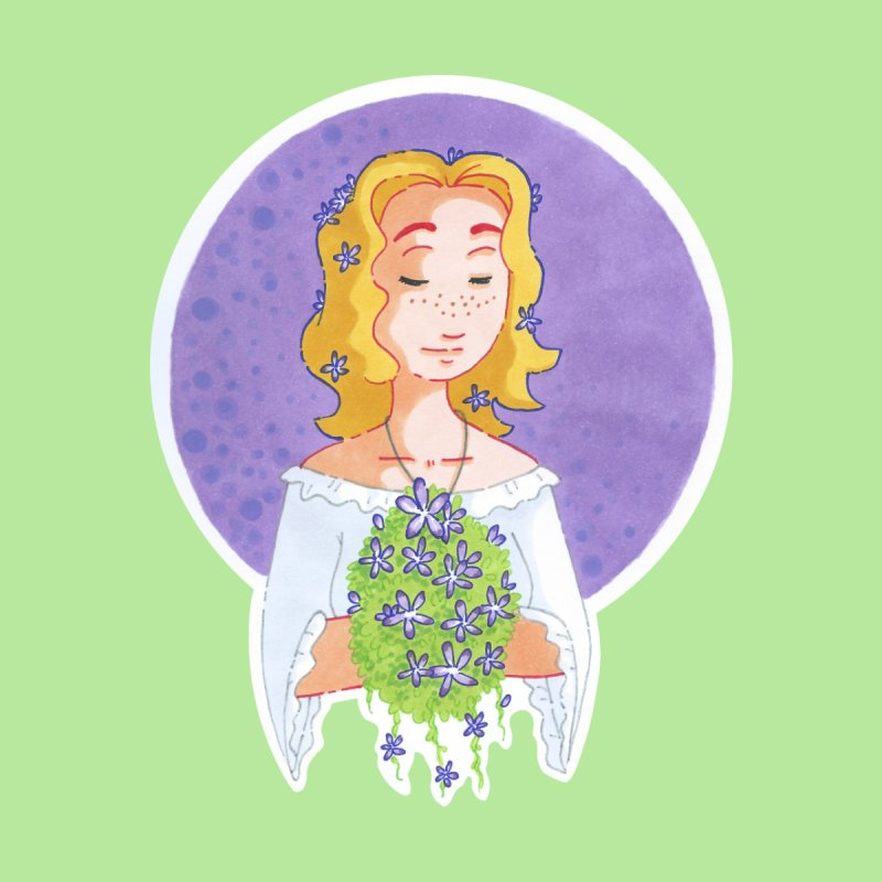 Companions - Forget-me-not Women's T-Shirt by Rachel Yelding | enchantedviolin