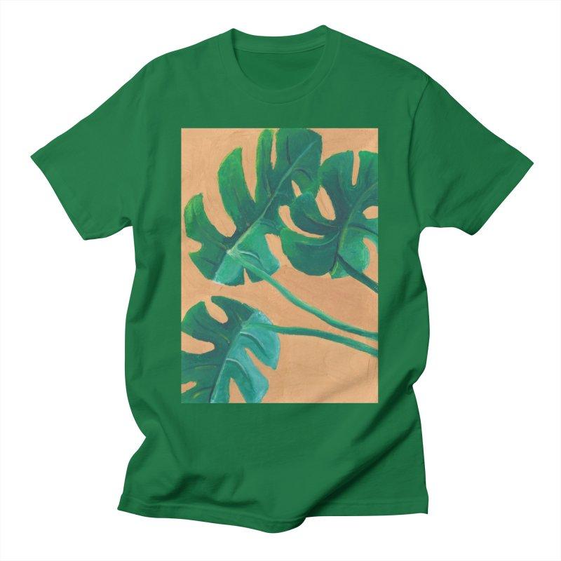 Monstera in Gouache Men's T-Shirt by Rachel Yelding   enchantedviolin