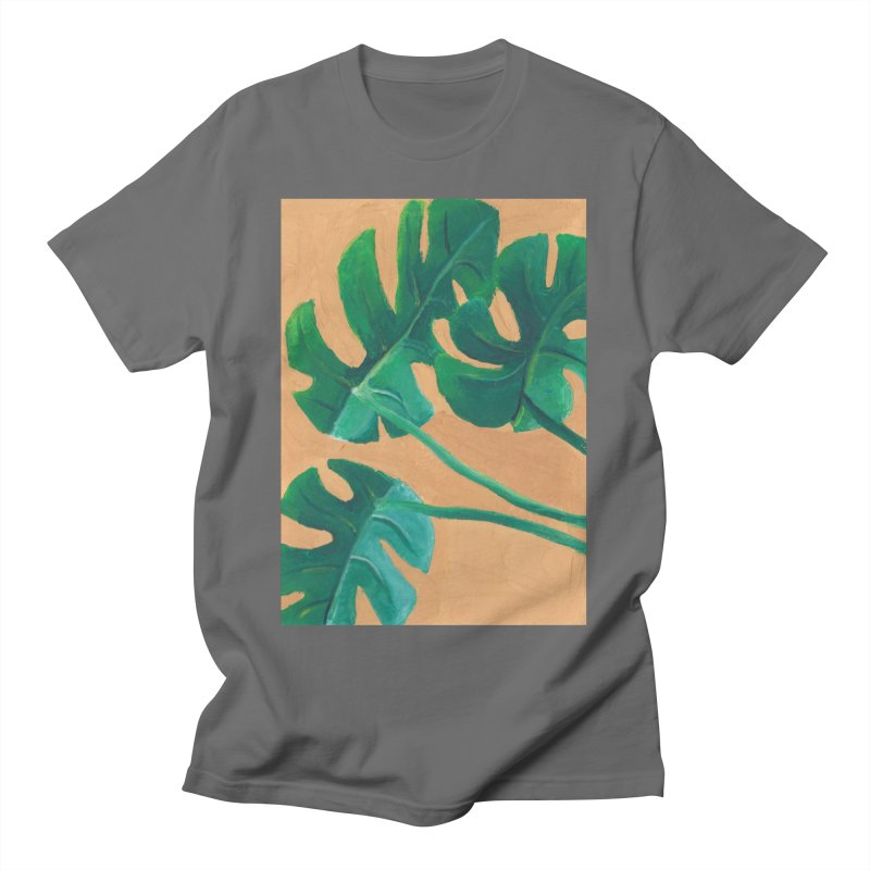 Monstera in Gouache Men's T-Shirt by Rachel Yelding | enchantedviolin