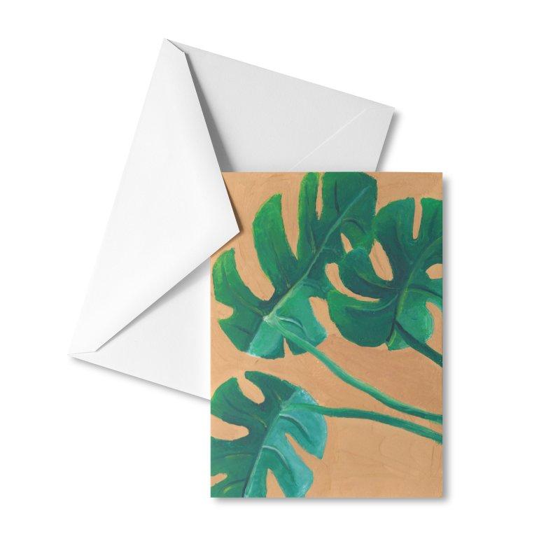 Monstera in Gouache Accessories Greeting Card by Rachel Yelding | enchantedviolin