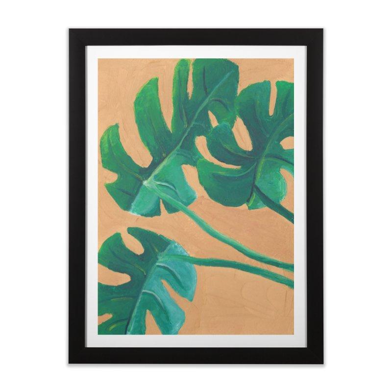 Monstera in Gouache Home Framed Fine Art Print by Rachel Yelding   enchantedviolin