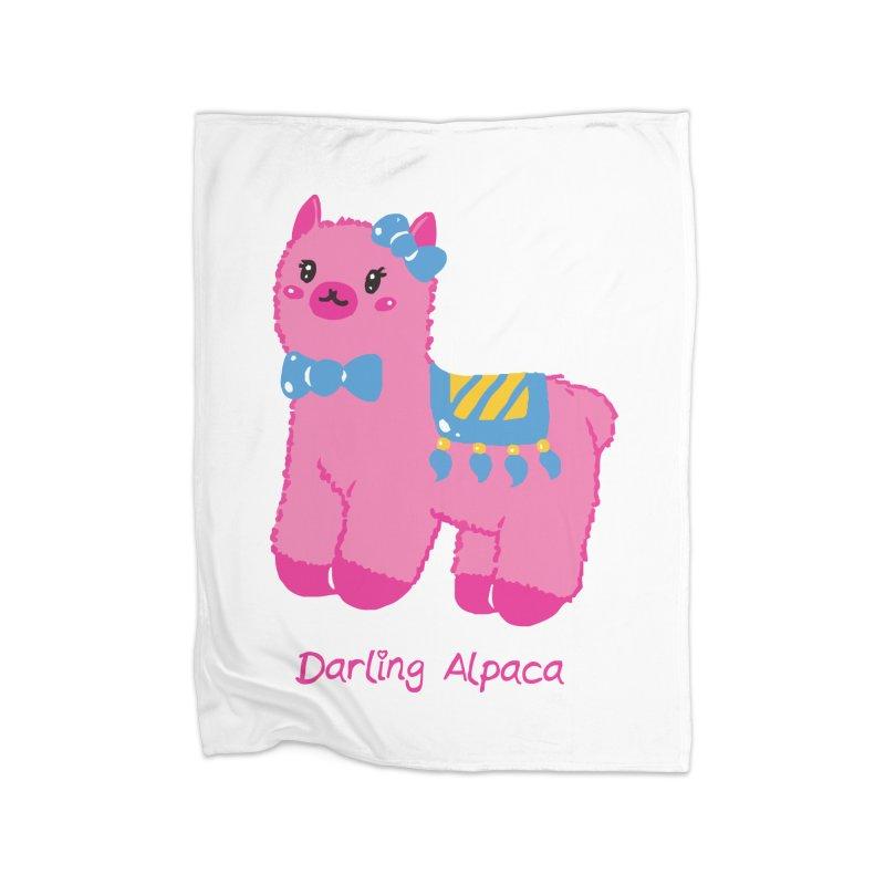 Darling Alpaca - English Text Home Blanket by Rachel Yelding | enchantedviolin
