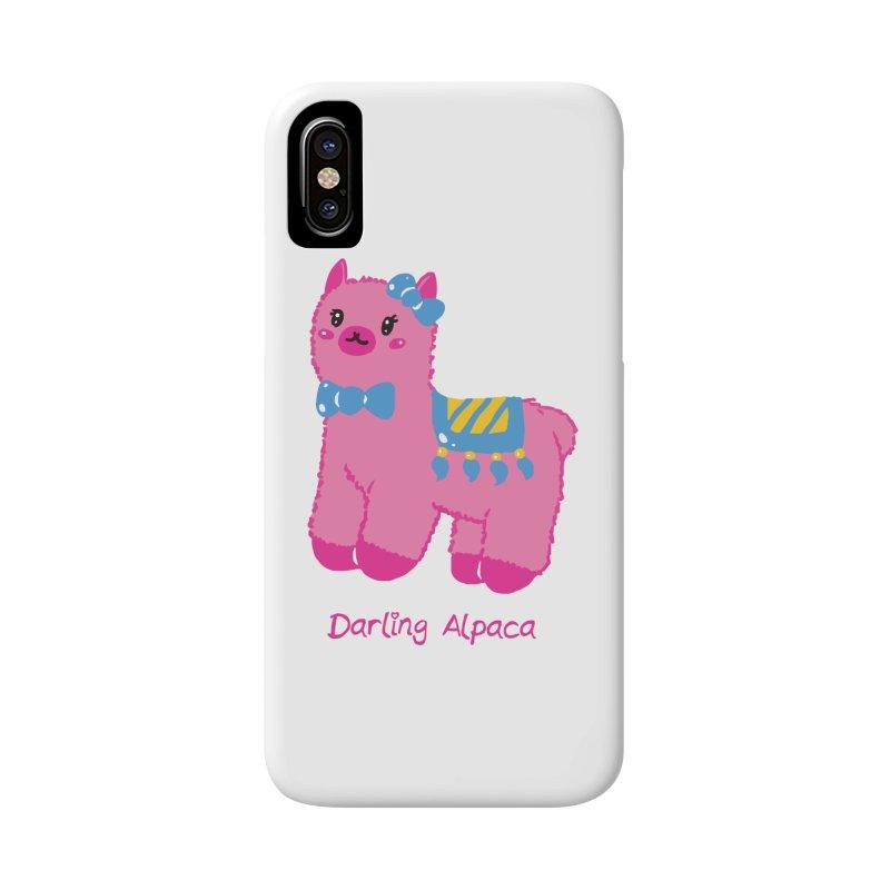 Darling Alpaca - English Text Accessories Phone Case by Rachel Yelding | enchantedviolin