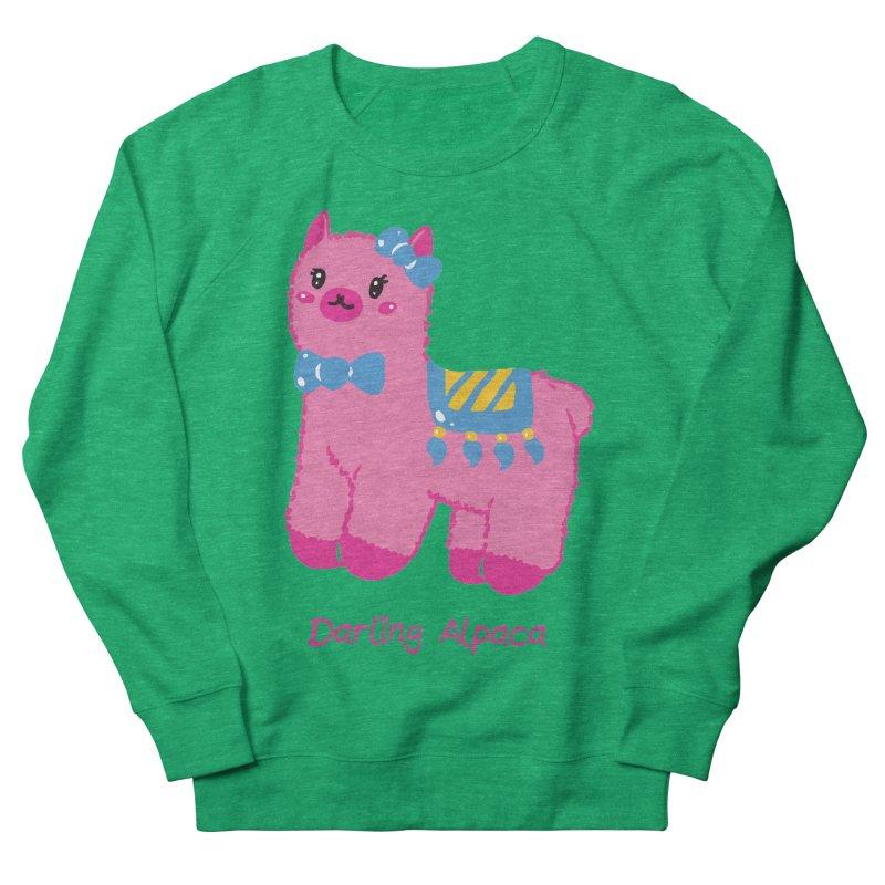 Darling Alpaca - English Text Women's French Terry Sweatshirt by Rachel Yelding | enchantedviolin