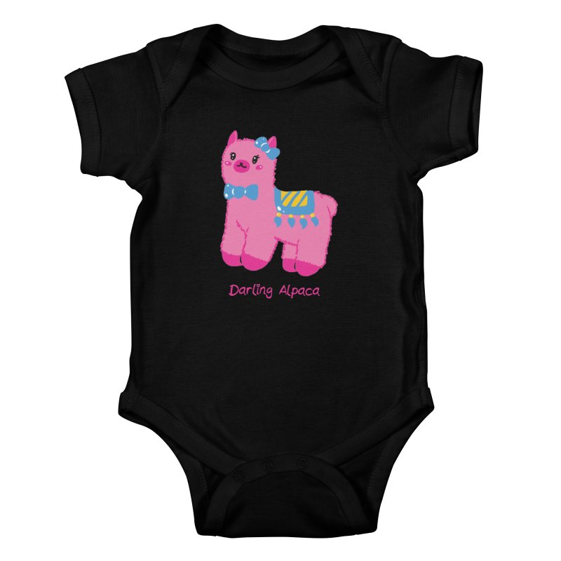 Darling Alpaca - English Text Kids Baby Bodysuit by Rachel Yelding | enchantedviolin
