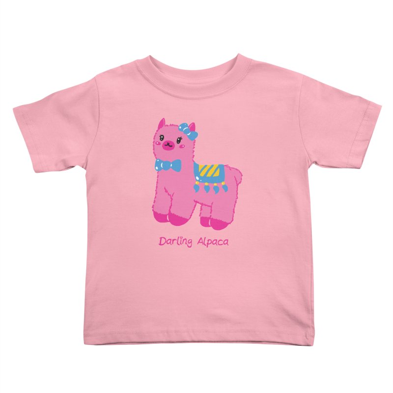 Darling Alpaca - English Text Kids Toddler T-Shirt by Rachel Yelding | enchantedviolin