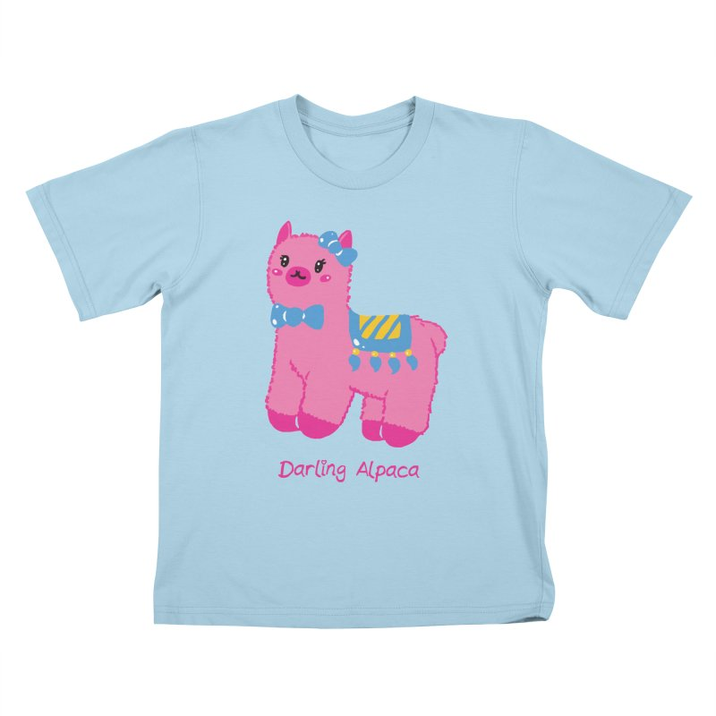 Darling Alpaca - English Text Kids T-Shirt by Rachel Yelding | enchantedviolin