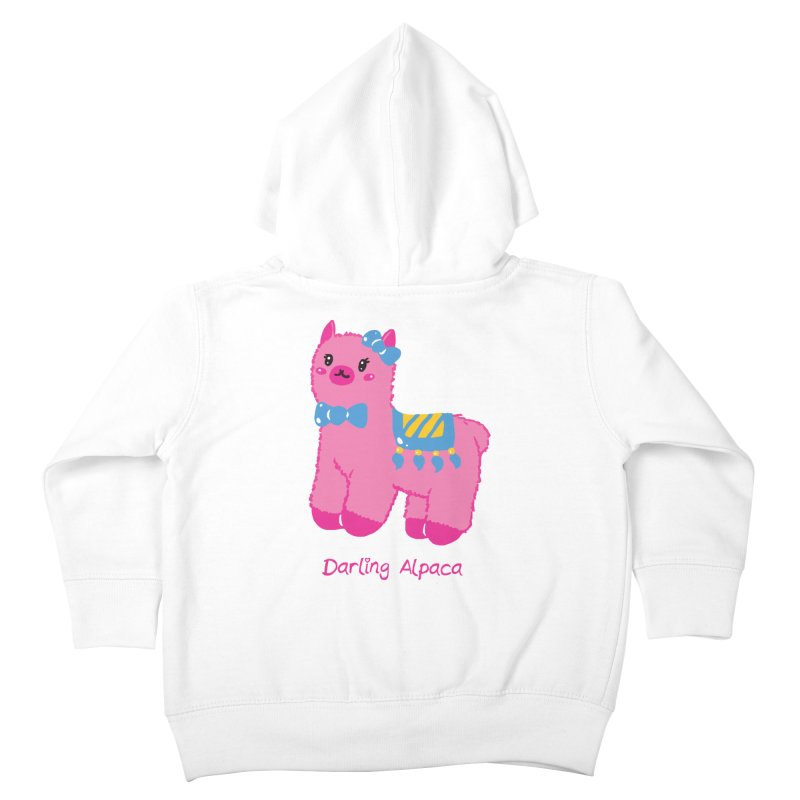 Darling Alpaca - English Text Kids Toddler Zip-Up Hoody by Rachel Yelding   enchantedviolin