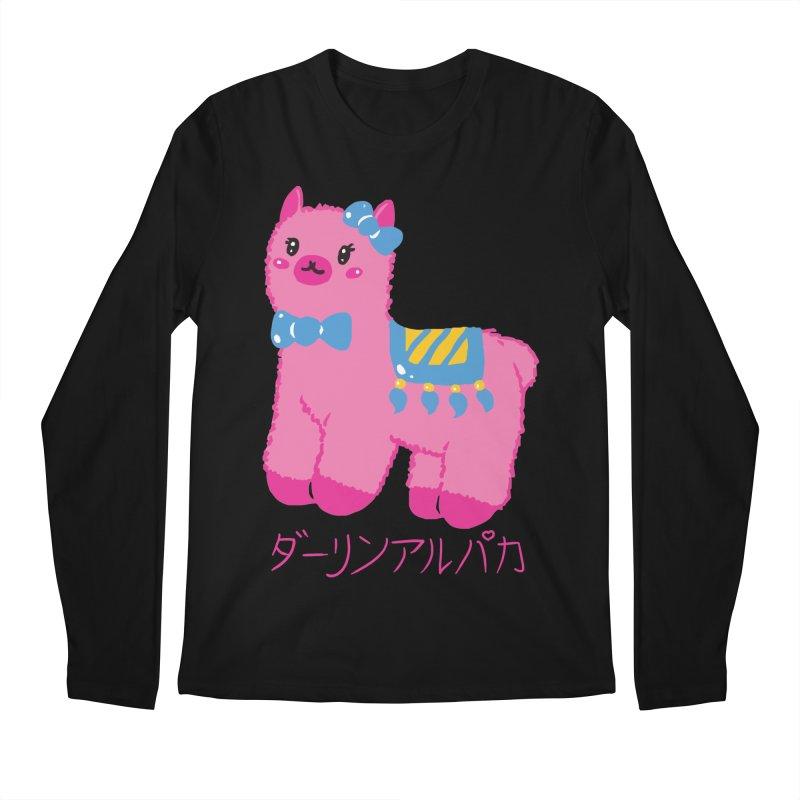 Darling Alpaca - Japanese Text Men's Regular Longsleeve T-Shirt by Rachel Yelding | enchantedviolin
