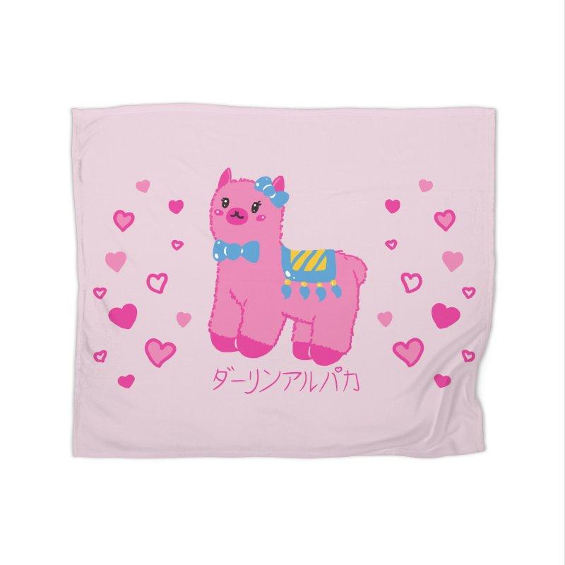 Darling Alpaca - Hearts Home Fleece Blanket Blanket by Rachel Yelding | enchantedviolin