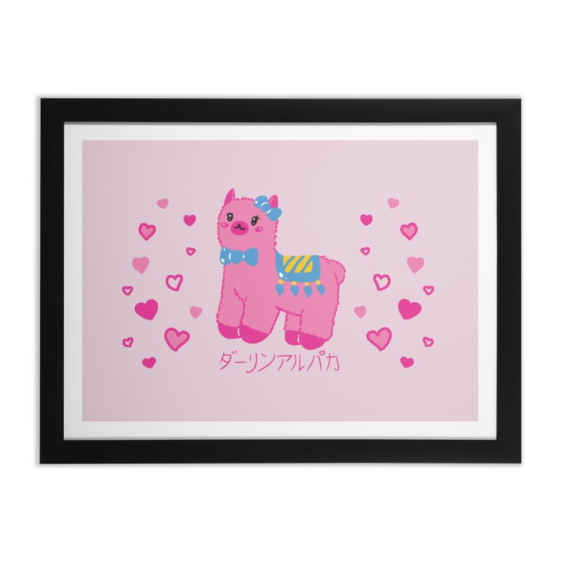 Darling Alpaca - Hearts Home Framed Fine Art Print by Rachel Yelding | enchantedviolin