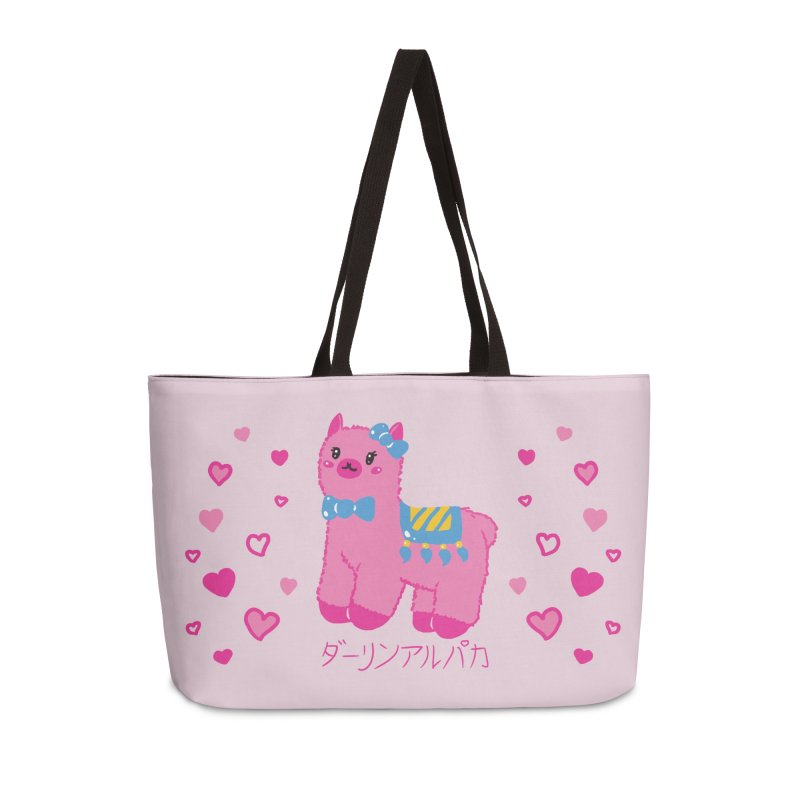 Darling Alpaca - Hearts Accessories Weekender Bag Bag by Rachel Yelding | enchantedviolin