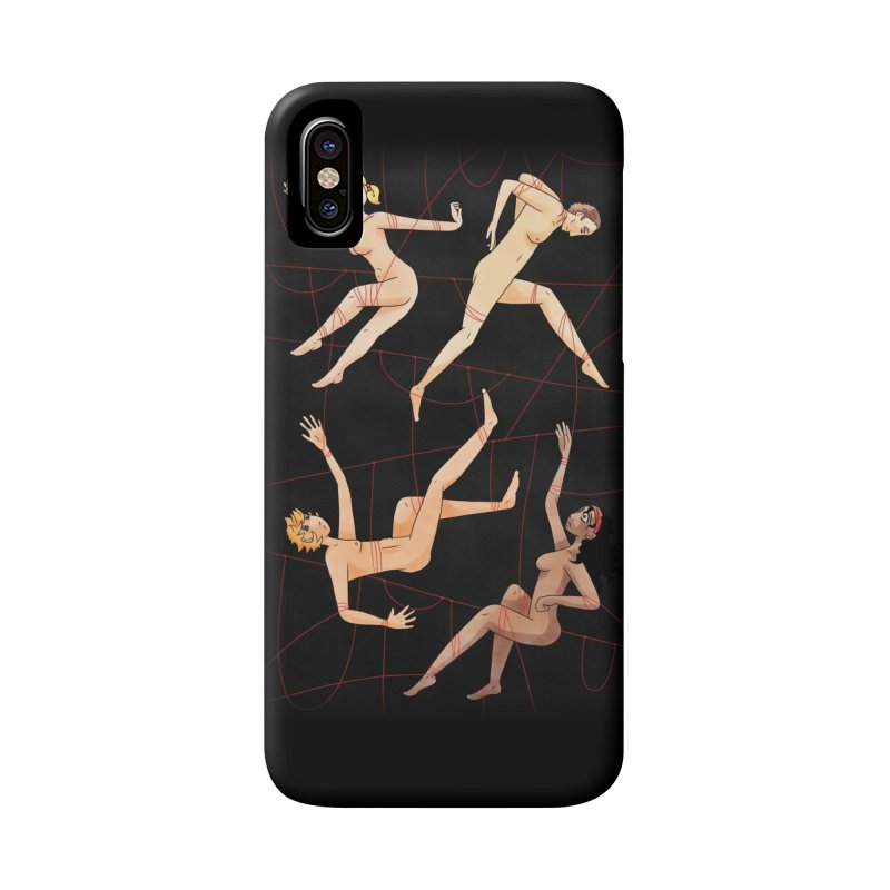 NSFW - Red String Accessories Phone Case by Rachel Yelding | enchantedviolin