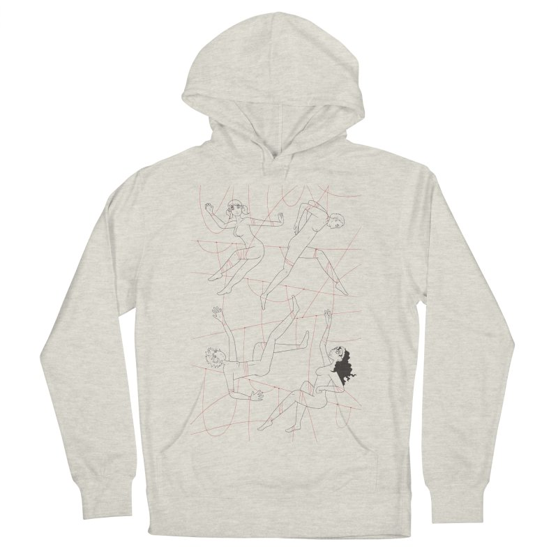 NSFW - Red String - Dark Lines Men's Pullover Hoody by Rachel Yelding | enchantedviolin