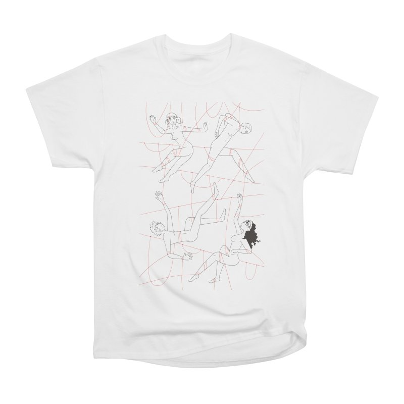 NSFW - Red String - Dark Lines Women's Classic Unisex T-Shirt by Rachel Yelding | enchantedviolin