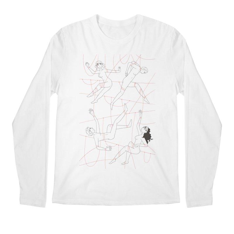 NSFW - Red String - Dark Lines Men's Regular Longsleeve T-Shirt by Rachel Yelding | enchantedviolin