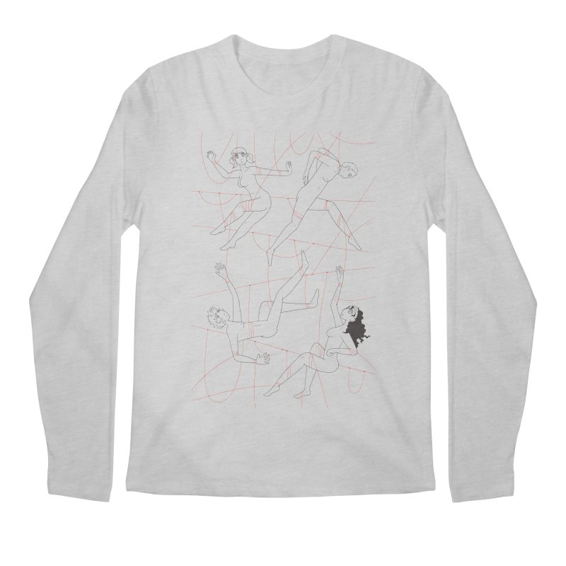 NSFW - Red String - Dark Lines Men's Longsleeve T-Shirt by Rachel Yelding | enchantedviolin