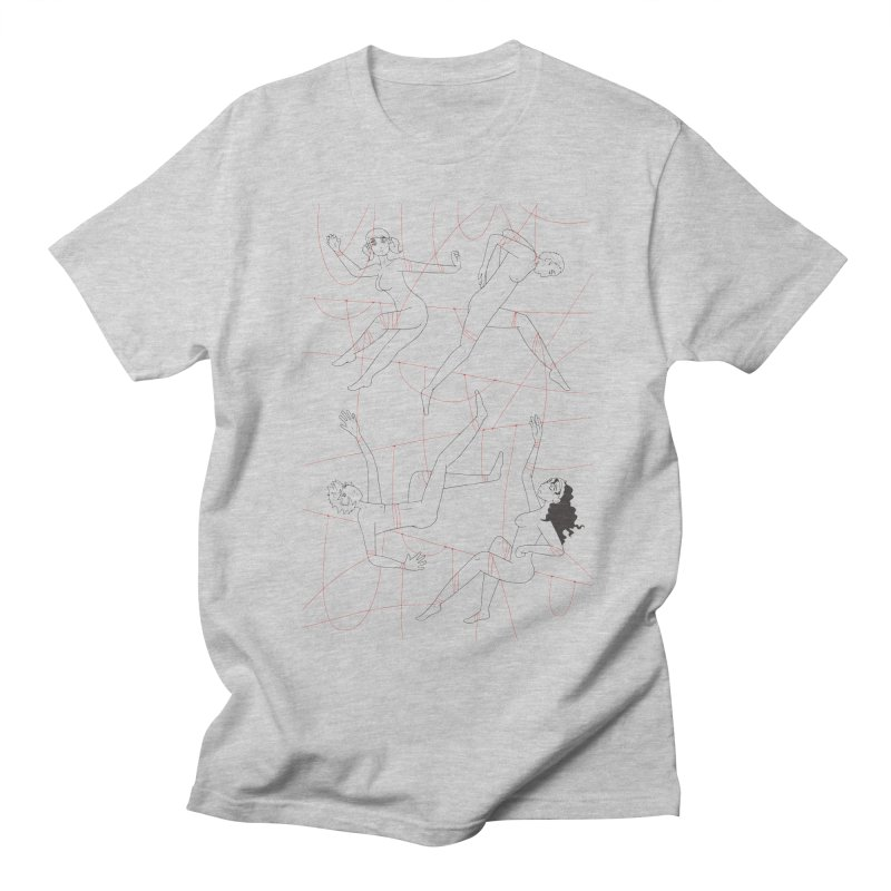 NSFW - Red String - Dark Lines Men's Regular T-Shirt by Rachel Yelding | enchantedviolin