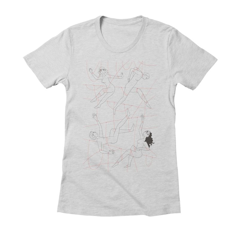 NSFW - Red String - Dark Lines Women's Fitted T-Shirt by Rachel Yelding | enchantedviolin