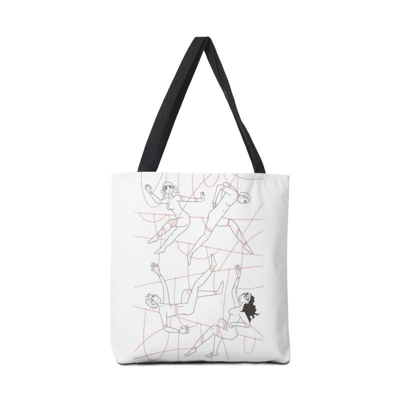 NSFW - Red String - Dark Lines Accessories Tote Bag Bag by Rachel Yelding | enchantedviolin