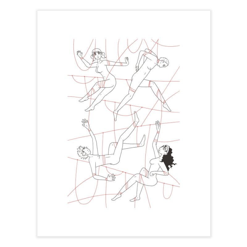 NSFW - Red String - Dark Lines Home Fine Art Print by Rachel Yelding | enchantedviolin