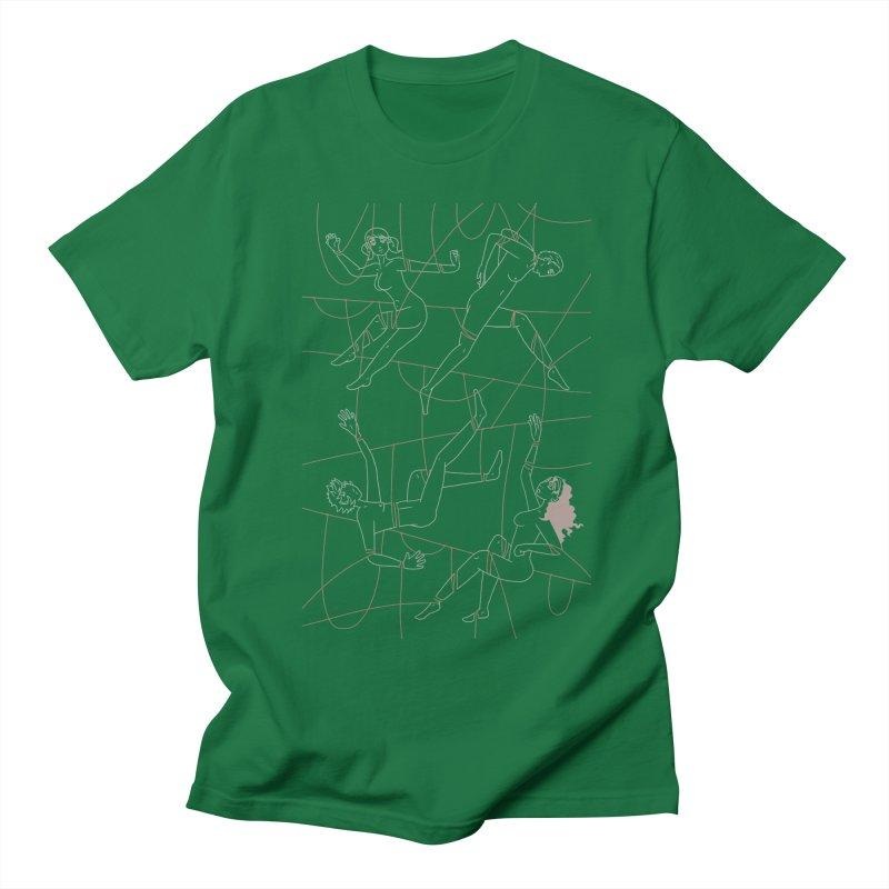 NSFW - Red String - Light Lines Men's Regular T-Shirt by Rachel Yelding | enchantedviolin