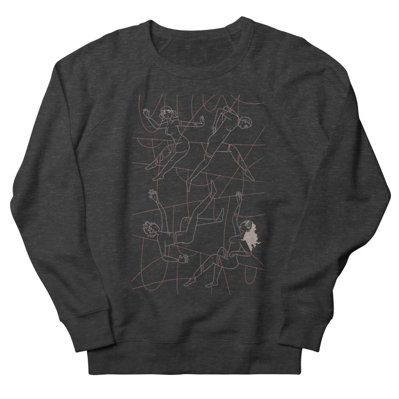 NSFW - Red String - Light Lines Women's French Terry Sweatshirt by Rachel Yelding | enchantedviolin