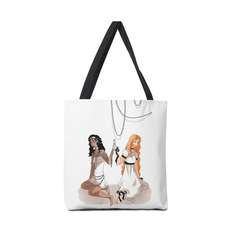 Ribbons and Pearls - Colour Accessories Tote Bag Bag by Rachel Yelding | enchantedviolin