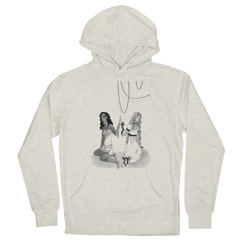 Ribbons and Pearls - Greyscale Women's Pullover Hoody by Rachel Yelding   enchantedviolin