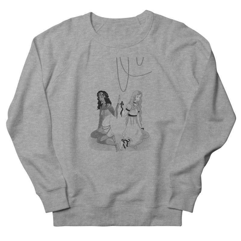 Ribbons and Pearls - Greyscale Men's Sweatshirt by Rachel Yelding   enchantedviolin